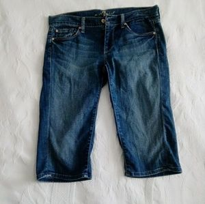 7 for all man kind capri jeans
